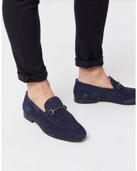 H by Hudson Blythe Bar Loafers - Blue