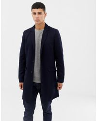 Only & Sons Jersey Overcoat - Blue