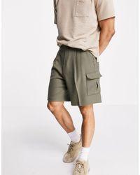 ASOS Wide Leg Cargo jogger Shorts - Green