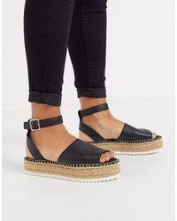 ASOS Jupiter Flatform Espadrille Sandals - Black