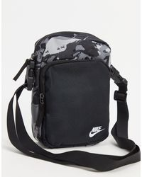 Nike Heritage - Flight Tas Met Digitale Camouflageprint - Zwart