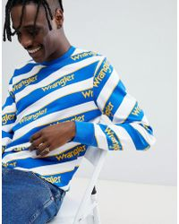 Wrangler - Repeat Logo Stripe Sweatshirt - Lyst