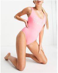 Nike Logo Swimsuit - Pink