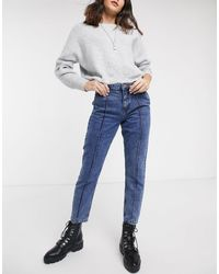 ONLY Mom Jeans With Seam Detail - Blue