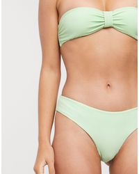& Other Stories Ribbed Bikini Brief - Green