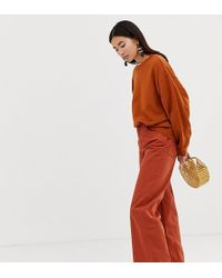 Weekday Ace Wide Leg Jeans With Organic Cotton In Rust - Brown