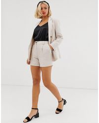 New Look Tailored Shorts In Stone Co Ord - Multicolor