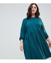 ASOS - Cotton Smock Dress With Elastic Cuff Detail - Lyst