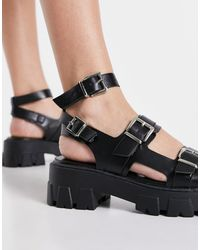 Raid Wide Fit Prestone Chunky Heeled Sandals - Black