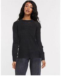 New Look Черный Джемпер С Круглым Вырезом -черный Цвет