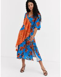 Liquorish Midi Dress - Blue
