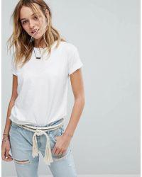 Hollister T-shirt coupe masculine - Blanc