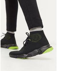 Pull&Bear High-top Sock Trainers - Black