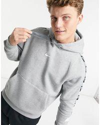 Nike Худи Серого Цвета С Фирменной Тесьмой Repeat Pack-серый