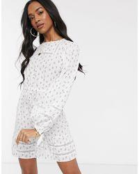 Fashion Union Платье Мини С Цветочным Принтом -белый