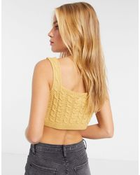 UNIQUE21 Cable Knitted Bralet - Multicolour