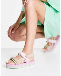 Vero Moda Сандалии В Пастельных Оттенках В Стиле Колор Блок -multi - Многоцветный