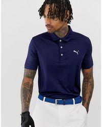 PUMA Темно-синее Поло Golf Rotation 57787503 - Синий