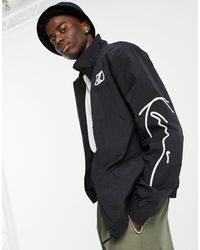 Karlkani Giacca sportiva nera con logo - Nero