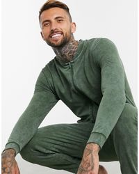 ASOS Lounge Onesie In Washed Green - Blue