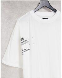 Liquor N Poker Oversized Double Layered T-shirt - White