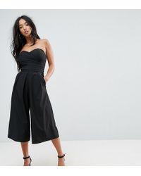 TFNC London - Bandeau Culotte Jumpsuit - Lyst