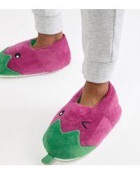 ASOS - Aubergine Slippers - Lyst