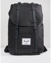 Herschel Supply Co. Retreat - Sac à dos avec bretelles caoutchoutées - Noir