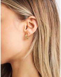 Whistles Seed Bead Triple Hoop Earring - Metallic