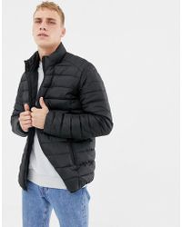 Only & Sons Quilted Jacket In Black
