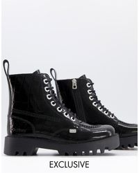 Kickers Exclusive Kizziie Ankle Boots - Black