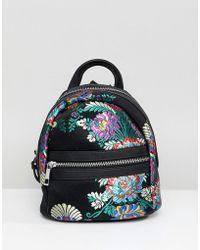 Park Lane Chinoiserie Mini Backpack - Black