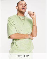 Collusion T-shirt d'ensemble oversize en tissu éponge - Vert