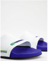 Havaianas Brasil Sliders - Blue