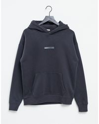 Abercrombie & Fitch Central Tonal Logo Hoodie - Black