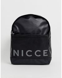 Nicce London Backpack With Large Logo In Black