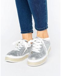 Truffle Collection - Espadrille Lace Up Trainer - Lyst