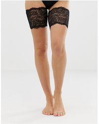 ASOS Lace Chafing Bands - Black