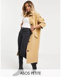 ASOS Asos Design Petite Boyfriend Throw-on Overcoat - Multicolour
