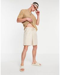 ASOS Boxy Bermuda Shorts - Natural