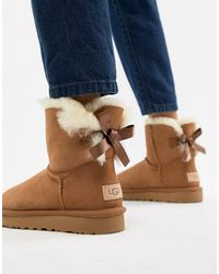 UGG Ботинки С Бантами Mini Bailey-светло-коричневый