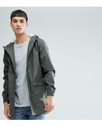 D-Struct Tall Mid Length Water-resistant Jacket With Hood - Green