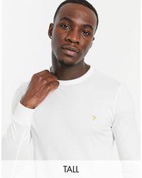 Farah Tall - Worthington - T-shirt manches longues en coton biologique - Blanc