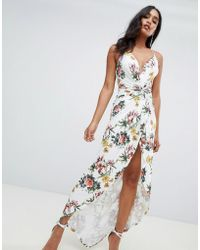 ASOS - Slinky Occasion Maxi Dress In Floral Print - Lyst