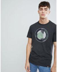 Pretty Green Retro Logo T-shirt In Dark Grey Marl