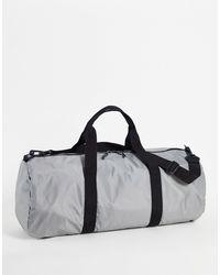 ASOS – Sporttasche aus grauem Nylon mit Schulterriemen, 37 Liter