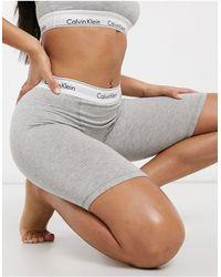 Calvin Klein Modern Cotton Logo Elastic Detail Shorts - Gray