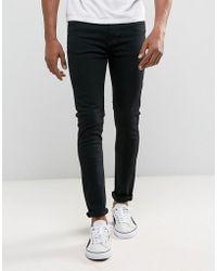 Dr. Denim - Jeans Leon Slim Tapered Drop Crotch Black Rinse Wash - Lyst