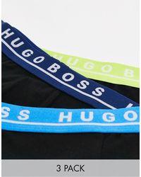BOSS by Hugo Boss Bodywear - Set Van 3 Boxershorts - Zwart