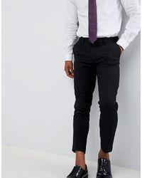 ASOS – Elegante, kurz geschnittene Skinny-Hose - Schwarz